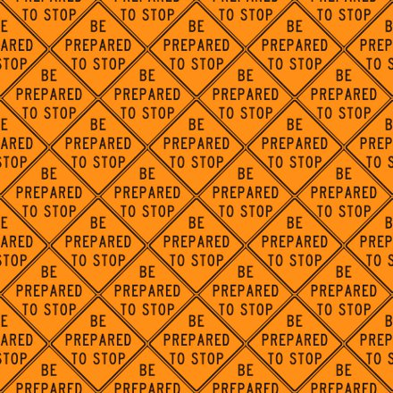 Click to get the codes for this image. Be Prepared To Stop Signs Background Seamless, Street Signs, Orange Background Wallpaper Image or texture free for any profile, webpage, phone, or desktop