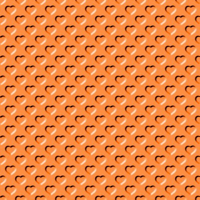 Click to get the codes for this image. Beveled Bright Orange Hearts Background Seamless, Beveled and Indented, Hearts, Orange Background Wallpaper Image or texture free for any profile, webpage, phone, or desktop