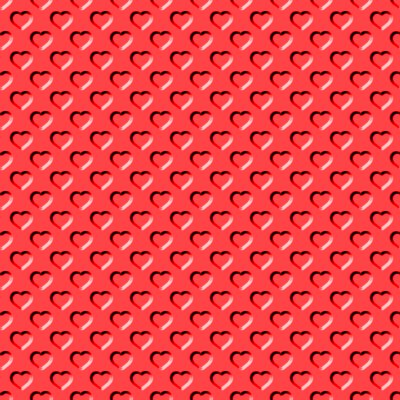Click to get the codes for this image. Beveled Bright Red Hearts Background Seamless, Beveled and Indented, Hearts, Red Background Wallpaper Image or texture free for any profile, webpage, phone, or desktop