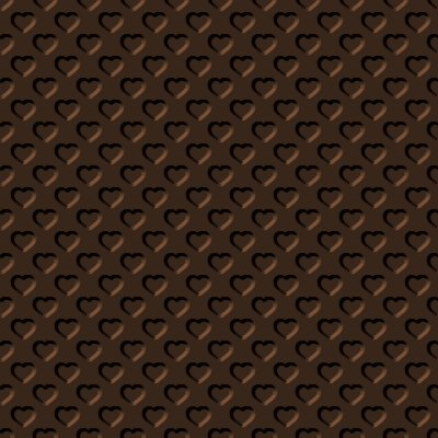 Click to get the codes for this image. Beveled Chocolate Brown Hearts Background Seamless, Beveled and Indented, Hearts, Brown Background Wallpaper Image or texture free for any profile, webpage, phone, or desktop