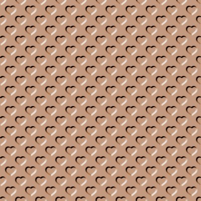 Click to get the codes for this image. Beveled Light Brown Hearts Background Seamless, Beveled and Indented, Hearts, Brown Background Wallpaper Image or texture free for any profile, webpage, phone, or desktop