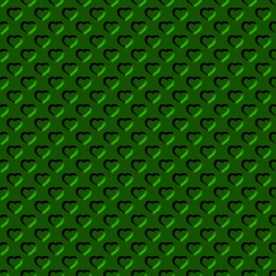 Click to get the codes for this image. Beveled Metallic Kelly Green Hearts Background Seamless, Beveled and Indented, Hearts, Green, Metallic Background Wallpaper Image or texture free for any profile, webpage, phone, or desktop