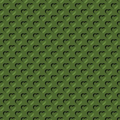 Click to get the codes for this image. Beveled Olive Green Hearts Background Seamless, Beveled and Indented, Hearts, Green Background Wallpaper Image or texture free for any profile, webpage, phone, or desktop