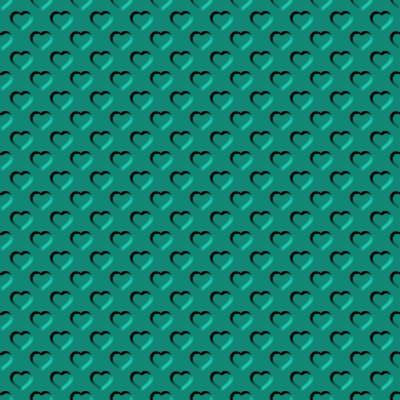 Click to get the codes for this image. Beveled Sea Green Hearts Background Seamless, Beveled and Indented, Hearts, Green Background Wallpaper Image or texture free for any profile, webpage, phone, or desktop