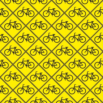 Click to get the codes for this image. Bicycle Signs Background Seamless, Street Signs, Yellow, Sports Background Wallpaper Image or texture free for any profile, webpage, phone, or desktop