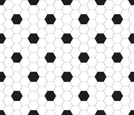 Click to get the codes for this image. Black And White Hexagon Tile Seamless Background Pattern, Tile, Black and White Background Wallpaper Image or texture free for any profile, webpage, phone, or desktop