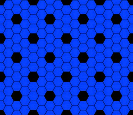 Click to get the codes for this image. Blue And Black Hexagon Tile Seamless Background Pattern, Tile, Blue Background Wallpaper Image or texture free for any profile, webpage, phone, or desktop