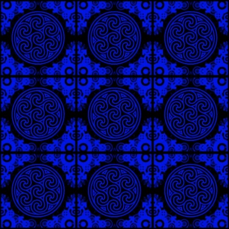 Click to get the codes for this image. Blue Ornate Circles And Squares On Black, Blue, Ornate, Circles Background Wallpaper Image or texture free for any profile, webpage, phone, or desktop
