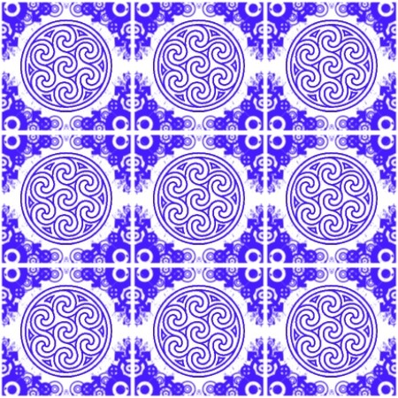 Click to get the codes for this image. Blue Ornate Circles And Squares On White, Blue, Ornate, Circles Background Wallpaper Image or texture free for any profile, webpage, phone, or desktop