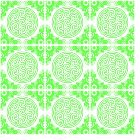 Click to get the codes for this image. Bright Green Ornate Circles And Squares On White, Green, Ornate, Circles Background Wallpaper Image or texture free for any profile, webpage, phone, or desktop