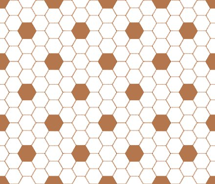 Click to get the codes for this image. Brown And White Hexagon Tile Seamless Background Pattern, Tile, Brown Background Wallpaper Image or texture free for any profile, webpage, phone, or desktop