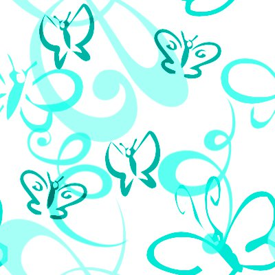 Click to get the codes for this image. Butterflies And Swirls Seamless Background Aqua, Butterflies, Aqua Background Wallpaper Image or texture free for any profile, webpage, phone, or desktop