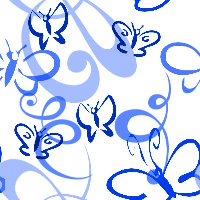 Click to get the codes for this image. Butterflies And Swirls Seamless Background Blue, Butterflies, Blue Background Wallpaper Image or texture free for any profile, webpage, phone, or desktop