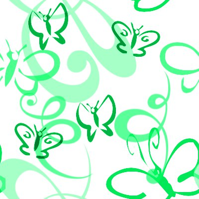Click to get the codes for this image. Butterflies And Swirls Seamless Background Green, Butterflies, Green Background Wallpaper Image or texture free for any profile, webpage, phone, or desktop