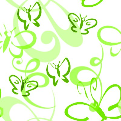 Click to get the codes for this image. Butterflies And Swirls Seamless Background Lime, Butterflies, Green Background Wallpaper Image or texture free for any profile, webpage, phone, or desktop
