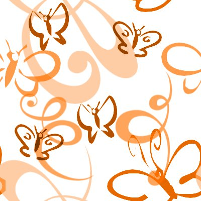 Click to get the codes for this image. Butterflies And Swirls Seamless Background Orange, Butterflies, Orange Background Wallpaper Image or texture free for any profile, webpage, phone, or desktop