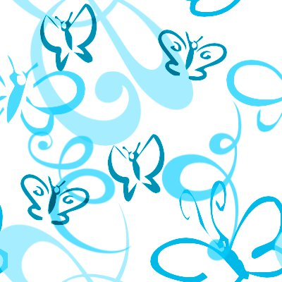 Click to get the codes for this image. Butterflies And Swirls Seamless Background Turquoise, Butterflies, Blue, Aqua Background Wallpaper Image or texture free for any profile, webpage, phone, or desktop