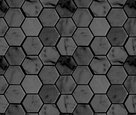 Click to get the codes for this image. Charcoal Gray Hexagon Tile Background Seamless, Tile, Dark, Gray Background Wallpaper Image or texture free for any profile, webpage, phone, or desktop