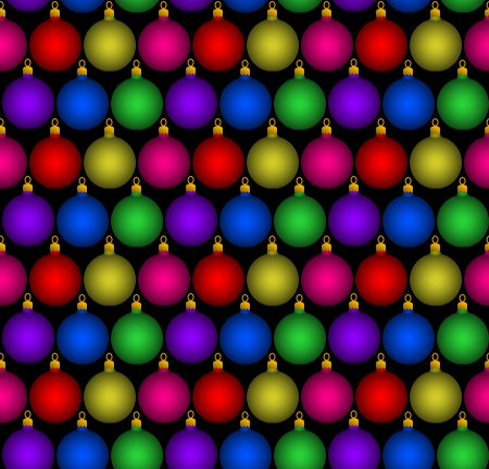 Click to get the codes for this image. Christmas Ornament Balls Background Tiled, Christmas Background Wallpaper Image or texture free for any profile, webpage, phone, or desktop