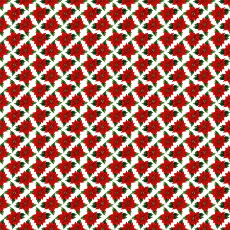 Click to get the codes for this image. Christmas Poinsettias Background Tiled, Christmas Background Wallpaper Image or texture free for any profile, webpage, phone, or desktop