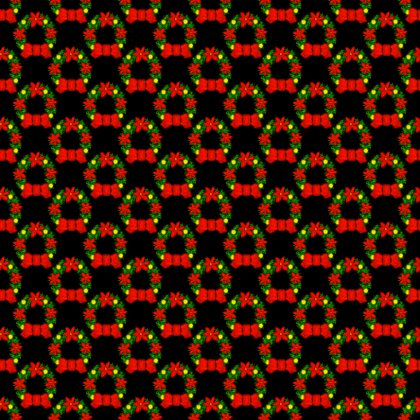 Click to get the codes for this image. Christmas Wreaths On Black Background Tiled, Christmas Background Wallpaper Image or texture free for any profile, webpage, phone, or desktop