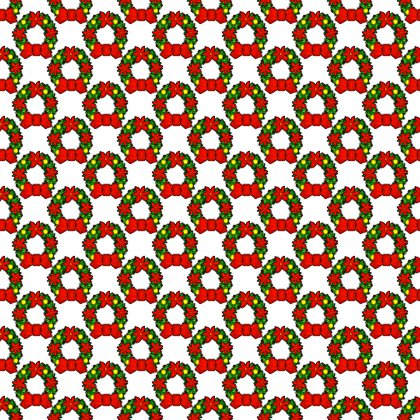 Click to get the codes for this image. Christmas Wreaths On White Background Tiled, Christmas Background Wallpaper Image or texture free for any profile, webpage, phone, or desktop