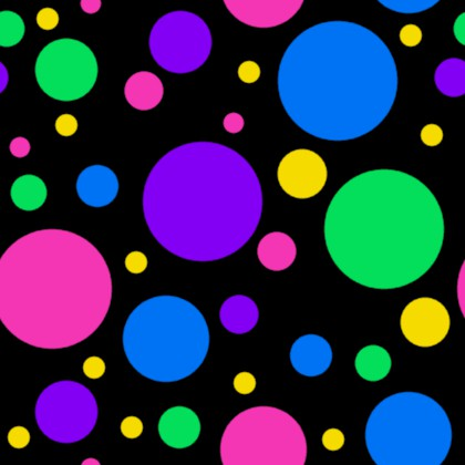 Click to get the codes for this image. Colorful Dots On Black Background Seamless, Circles, Polka Dots Background Wallpaper Image or texture free for any profile, webpage, phone, or desktop