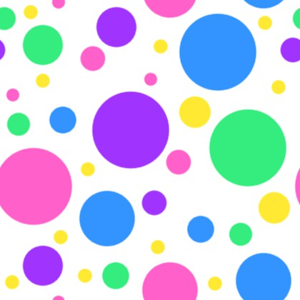 Click to get the codes for this image. Colorful Dots On White Background Seamless, Circles, Polka Dots Background Wallpaper Image or texture free for any profile, webpage, phone, or desktop