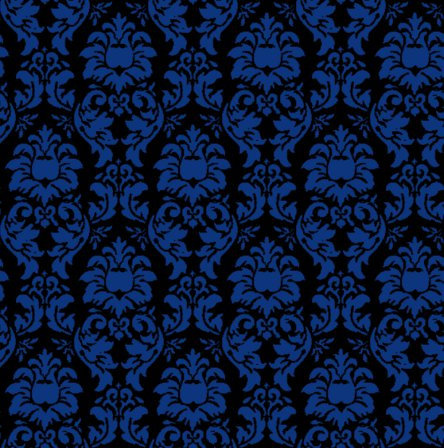 Click to get the codes for this image. Damask Wallpaper Seamless Background Blue And Black, Ornate, Damask, Blue Background Wallpaper Image or texture free for any profile, webpage, phone, or desktop
