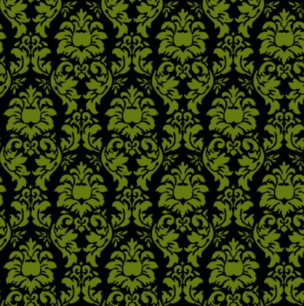 Click To Get The Codes For This Image Damask Wallpaper Seamless Background Green And Black