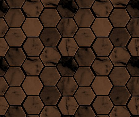 Click to get the codes for this image. Dark Brown Hexagon Tile Background Seamless, Tile, Brown Background Wallpaper Image or texture free for any profile, webpage, phone, or desktop
