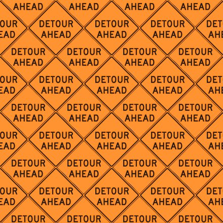 Click to get the codes for this image. Detour Ahead Signs Background Seamless, Street Signs, Orange Background Wallpaper Image or texture free for any profile, webpage, phone, or desktop