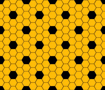 Click to get the codes for this image. Gold And Black Hexagon Tile Seamless Background Pattern, Tile, Gold Background Wallpaper Image or texture free for any profile, webpage, phone, or desktop