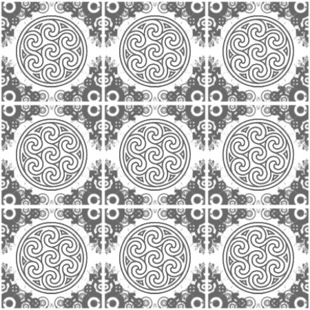 Click to get the codes for this image. Gray Ornate Circles And Squares On White, Ornate, Gray, Circles Background Wallpaper Image or texture free for any profile, webpage, phone, or desktop