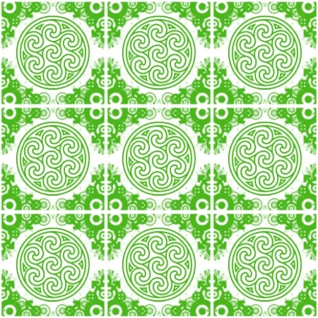 Click to get the codes for this image. Green Ornate Circles And Squares On White, Green, Ornate, Circles Background Wallpaper Image or texture free for any profile, webpage, phone, or desktop