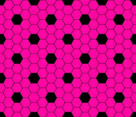 Click to get the codes for this image. Hot Pink And Black Hexagon Tile Seamless Background Pattern, Tile, Pink Background Wallpaper Image or texture free for any profile, webpage, phone, or desktop