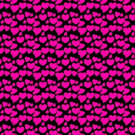 Click to get the codes for this image. Hot Pink Hearts On Black, Pink, Hearts Background Wallpaper Image or texture free for any profile, webpage, phone, or desktop