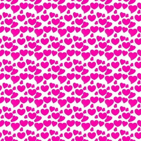 Hot Pink Hearts On White Background Or Wallpaper Image ...