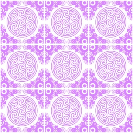 Click to get the codes for this image. Lavender Ornate Circles And Squares On White, Ornate, Purple, Circles Background Wallpaper Image or texture free for any profile, webpage, phone, or desktop