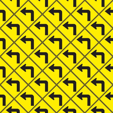 Click to get the codes for this image. Left Turn Arrow Signs Background Seamless, Street Signs, Yellow Background Wallpaper Image or texture free for any profile, webpage, phone, or desktop