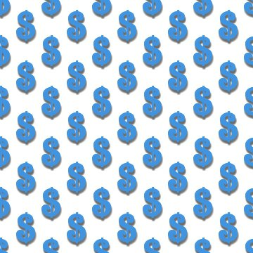 Click to get the codes for this image. Light Blue Dollar Signs Background Tileable, Money, Blue Background Wallpaper Image or texture free for any profile, webpage, phone, or desktop
