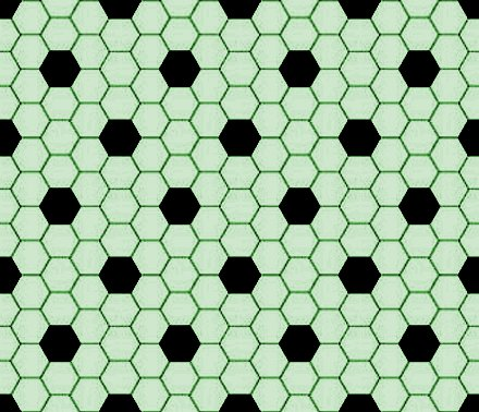 Click to get the codes for this image. Light Green And Black Hexagon Tile Seamless Background Pattern, Tile, Green Background Wallpaper Image or texture free for any profile, webpage, phone, or desktop