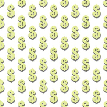 Click to get the codes for this image. Light Yellow Dollar Signs Background Tileable, Money, Yellow Background Wallpaper Image or texture free for any profile, webpage, phone, or desktop