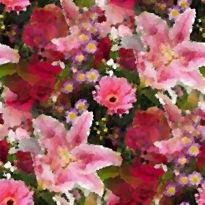 Click to get the codes for this image. Lillies And Roses Seamless Painting, Artistic, Flowers, Pink Background Wallpaper Image or texture free for any profile, webpage, phone, or desktop