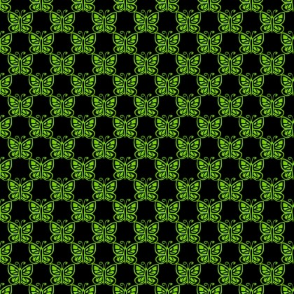 Click to get the codes for this image. Lime Green Butterflies On Black, Green, Butterflies Background Wallpaper Image or texture free for any profile, webpage, phone, or desktop
