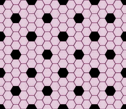 Click to get the codes for this image. Mauve And Black Hexagon Tile Seamless Background Pattern, Tile, Pink Background Wallpaper Image or texture free for any profile, webpage, phone, or desktop