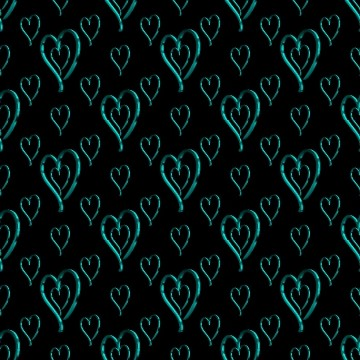 Click to get the codes for this image. Metallic Aqua Hearts Wallpaper On Black Background, Hearts, Metallic, Aqua Background Wallpaper Image or texture free for any profile, webpage, phone, or desktop