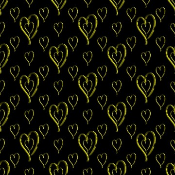 Click to get the codes for this image. Metallic Gold Hearts Wallpaper On Black Background, Hearts, Metallic, Gold Background Wallpaper Image or texture free for any profile, webpage, phone, or desktop