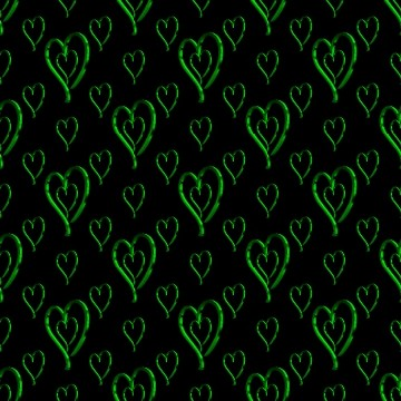 Click to get the codes for this image. Metallic Green Hearts Wallpaper On Black Background, Hearts, Metallic, Green Background Wallpaper Image or texture free for any profile, webpage, phone, or desktop