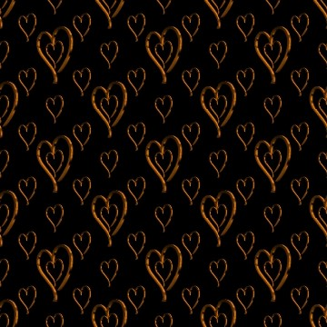 Click to get the codes for this image. Metallic Orange Hearts Wallpaper On Black Background, Hearts, Metallic, Orange Background Wallpaper Image or texture free for any profile, webpage, phone, or desktop
